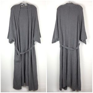 Soft Surroundings Robe Fuzzy Knit Half Sleeves